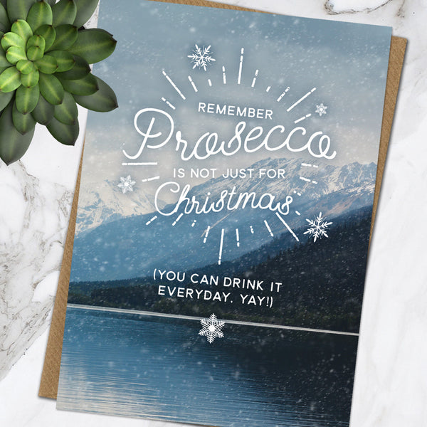 Prosecco Not Just For Xmas (Pack Of 6)