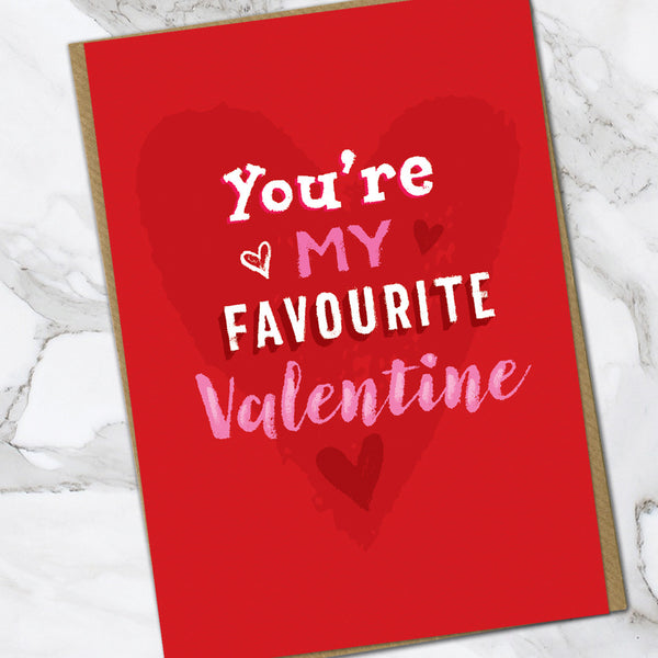 Favourite Valentine (Pack Of 6)