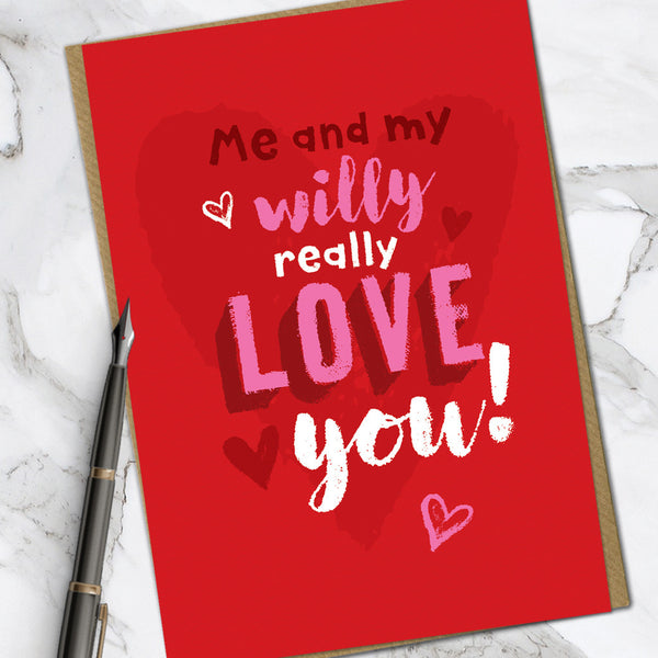 Willy Love You (Pack Of 6)