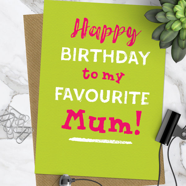 Favourite Mum (Pack Of 6)