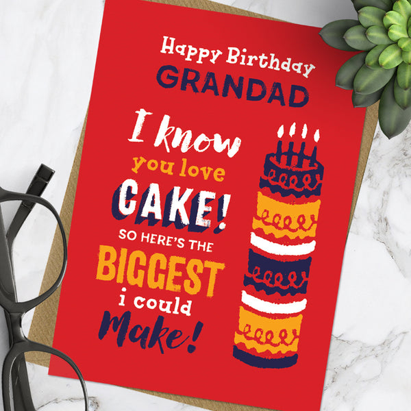 Grandad Cake (Pack Of 6)