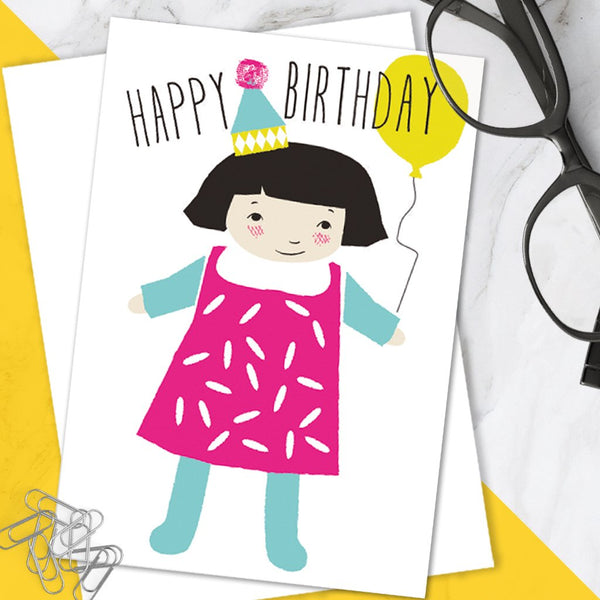 Bright Colourful Cute Children's 'Happy Birthday' Greetings Card