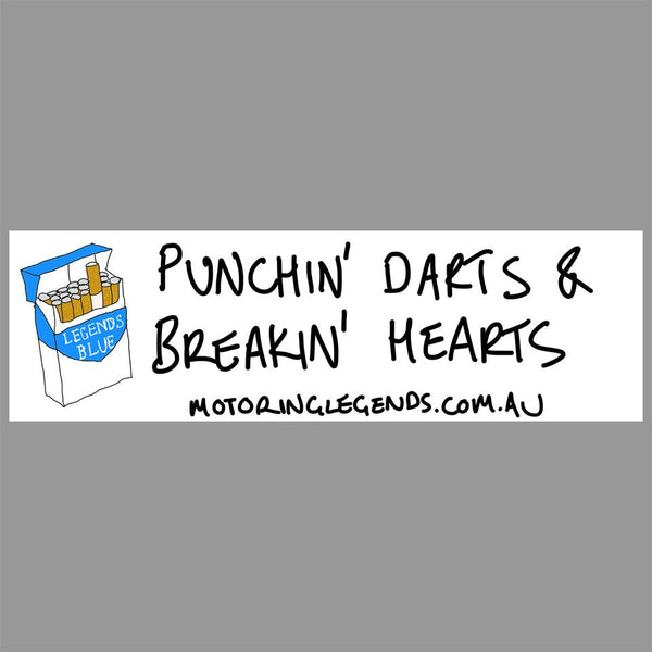Punchin Darts & Breakin Hearts - Small Label