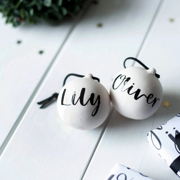 *SOLD OUT* Personalised Baubles