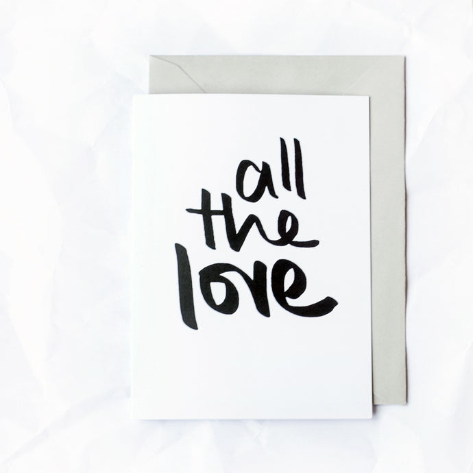 'All the love' Card