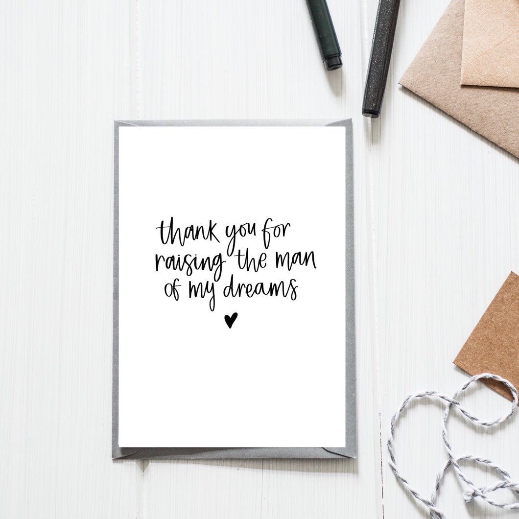 'Man of my Dreams' Card