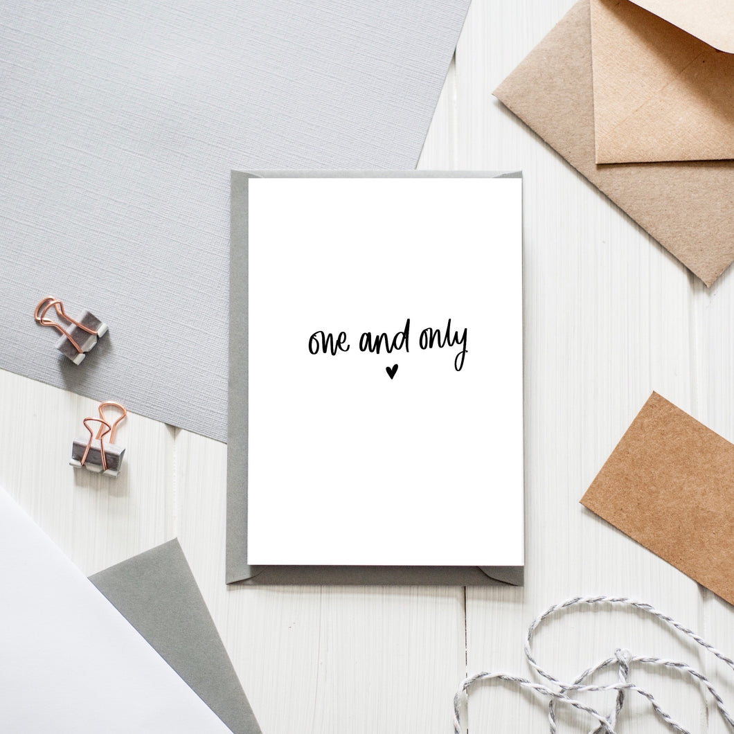 'One and Only' Card