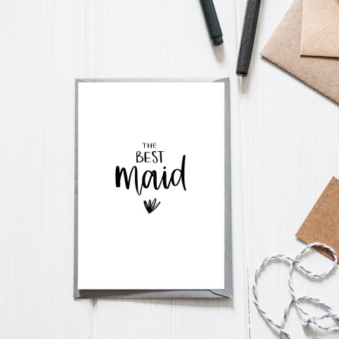'Best Maid' Card