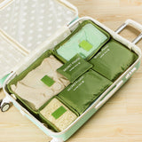 6 piece packing cube set for sale-green