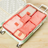 6 piece packing cube set for sale-peach