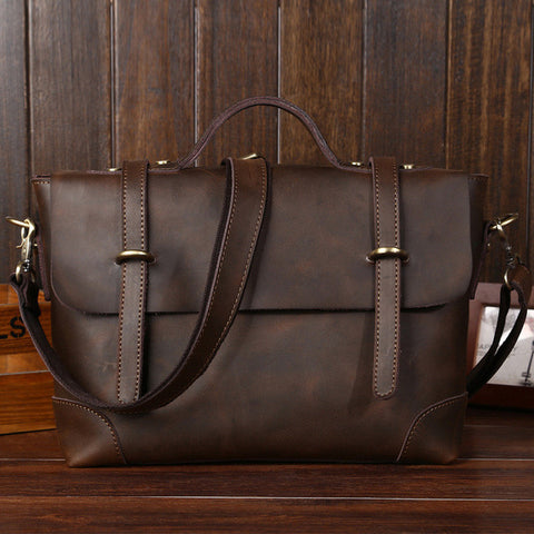 Genuine Leather Travel Briefcase