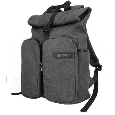 Dual Pocket Roll Top Backpack for sale