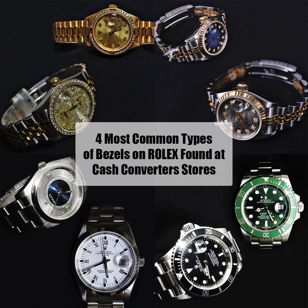 4 Most Common Types of Bezels on Rolex found at Cash Converters