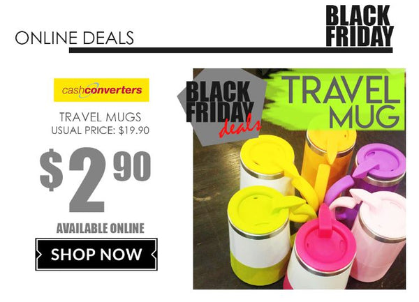 Travel Mugs at $2.90