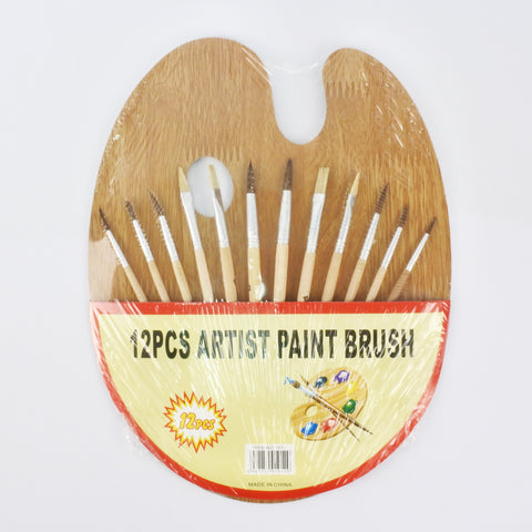 12 PCS PAINT BRUSH WITH PALETTE (Selected Stores)