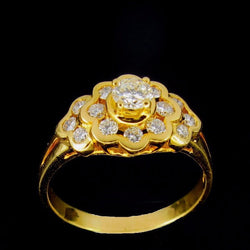 ONLY AVAILABLE OFFLINE - 850 Yellow Gold Diamond Ring
