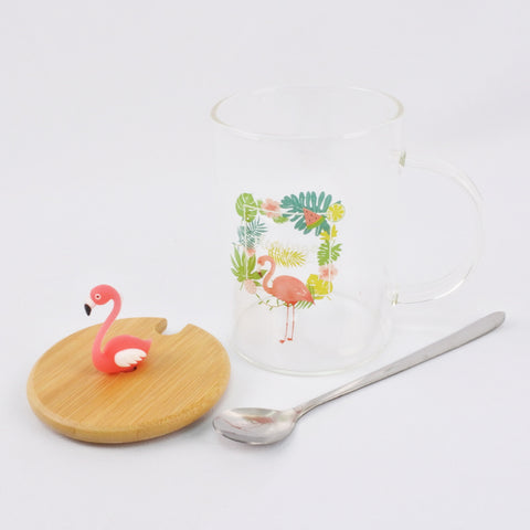 FLAMINGO MUG WITH LID (Selected Stores)