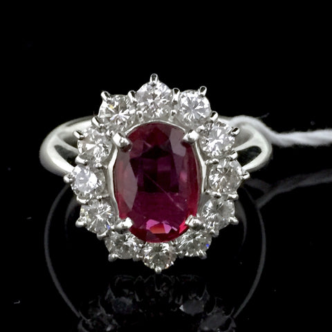 RING-PT900/RUBY DIAMOND/R=1.476/D=1.15