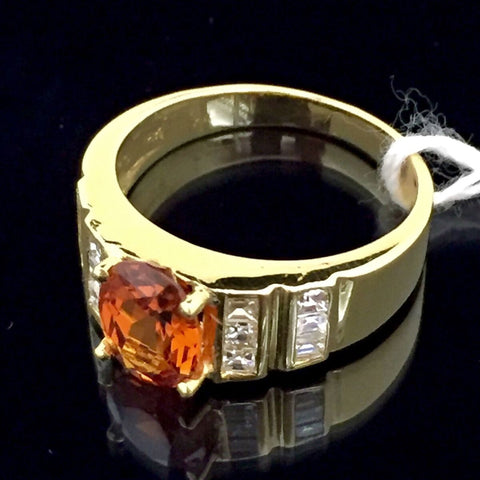 ONLY AVAILABLE AT OUR JURONG OUTLET - ORANGE GARNET RING