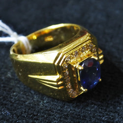 850 Yellow Gold Sapphire Ring With Diamonds (Kallang Bahru)