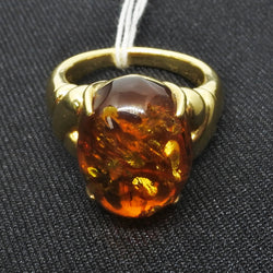 18K White Gold Amber Ring  (Toa Payoh)
