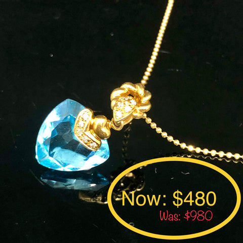 JEWELLERY CLEARANCE SALE: BLUE TOPAZ NECKLACE