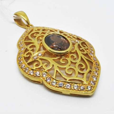 750 Yellow Gold Pendant With Diamonds (Toa Payoh)