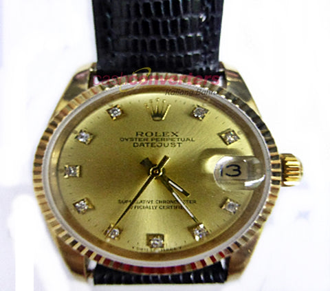 ROLEX MIDSIZE 6827 WATCH WITH DIAMONDS - (Kallang Bahru)