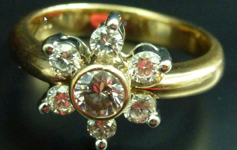 750K Red Gold Ring