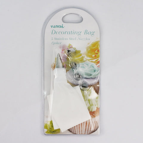 4PCS DECORATING BAG W/NOZZLES (Selected Stores)
