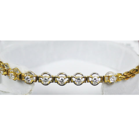 750 Yellow Gold Bracelet with Diamonds (Toa Payoh)