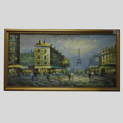 Paris Landscape Oil Painting On Canvas (Jurong)