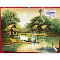 CANVAS OIL PAINTING - HUT/STREAM (Toa Payoh)