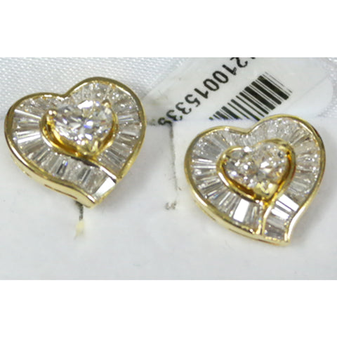 750 Yellow Gold Diamond Earrings (Toa Payoh)