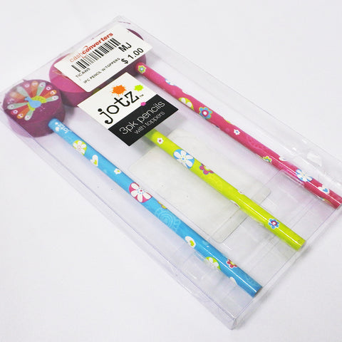 3 Pcs Pencils With Toppers (Selected Stores)