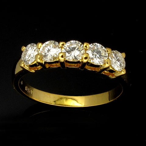 850 Yellow Gold Diamond Ring (Toa Payoh)