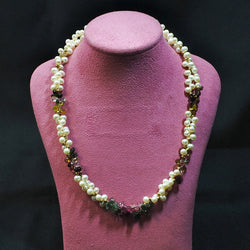 14K Tourmaline and Pearl Necklace (Chinatown)