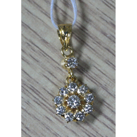 18K Yellow Gold Pendant with Diamonds (Toa Payoh)