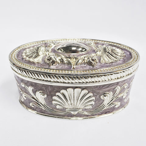 Silver Purple Oval Trinket (Kallang Bahru)