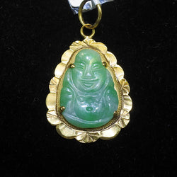 Yellow Gold Jade Pendant (Tampines)