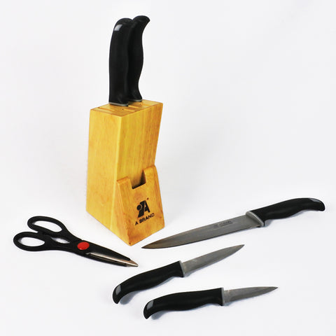 6 PCS KNIFE SET WITH HOLDER (Selected Stores)