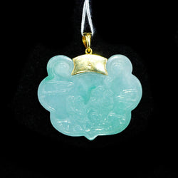18K Yellow Gold A Jade Pendant with Cert (Jurong)