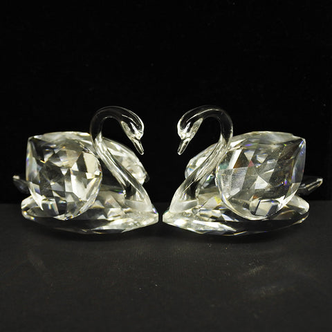 Pair Of Swarovski Crystal Swans (Tampines)