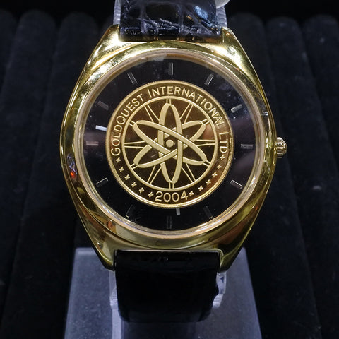 GoldQuest International Gold Dial Watch (Chinatown)