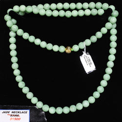 A Jade Beads Necklace with Cert (Chinatown)