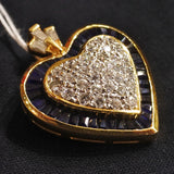 750 Yellow Gold Sapphire Pendant With Diamonds (Kallang Bahru)