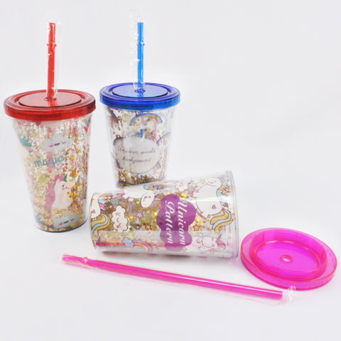 UNICORN TUMBLER WITH STRAW (Selected Stores)