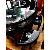 BLACK OVAL DINING SET - (Kallang Bahru)