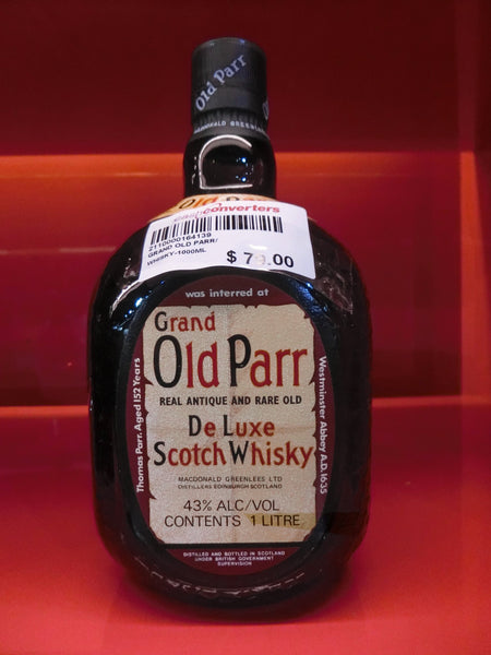 GRAND OLD PARR 1LITRE WHISKY