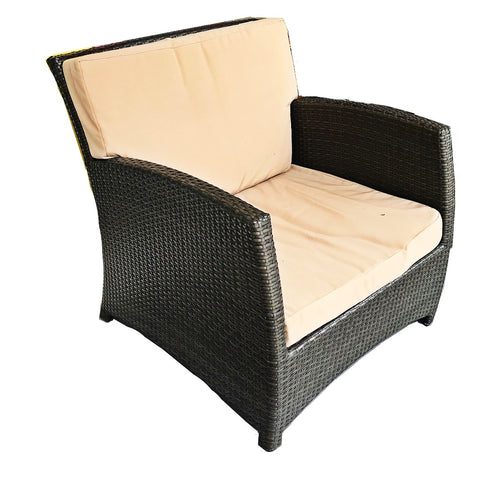 RATTAN LIKE OUTDOOR CHAIR WITH CUSHION - (Kallang Bahru)